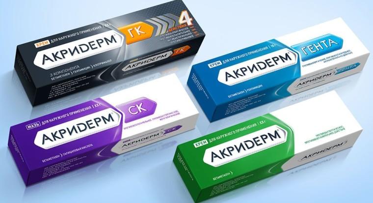 Акридерм при псориазе какая мазь лучше отзывы крем Акридерм - ГК СК