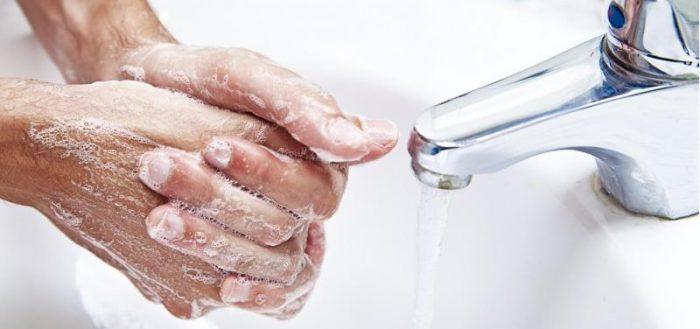 Тщательно очистить руки