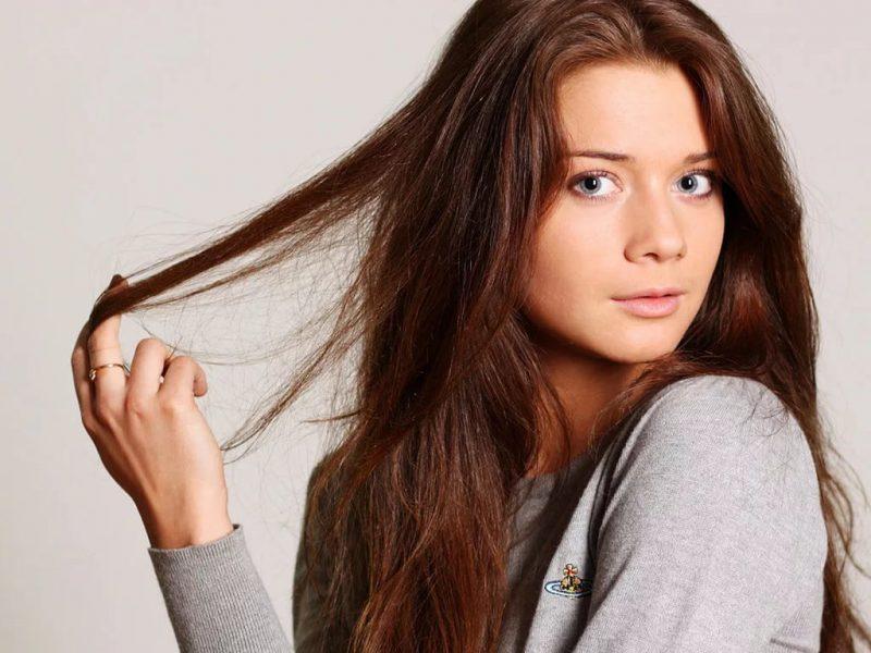 неокрашенные волосы