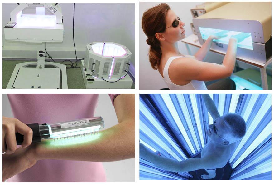 Аппараты для ПУВА терапии пси псориазе